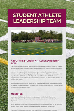 Student Athlete Leadership Team