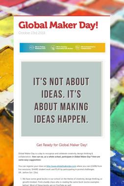 Global Maker Day!