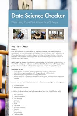 Data Science Checker