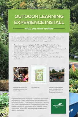 Outdoor Learning Experience Install