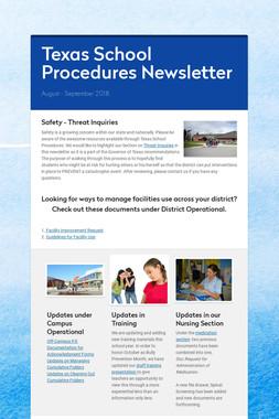 Texas School Procedures Newsletter