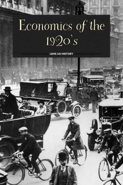 Economics of the 1920's