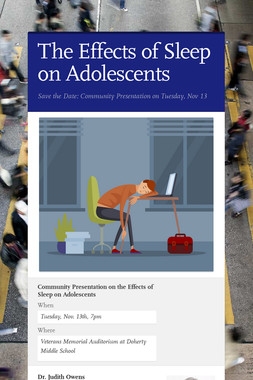 The Effects of Sleep on Adolescents