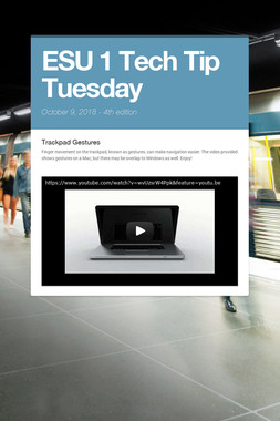 ESU 1 Tech Tip Tuesday