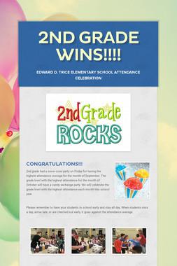 2nd grade wins!!!!