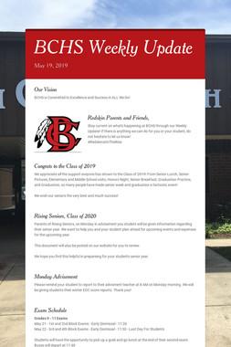 BCHS Weekly Update