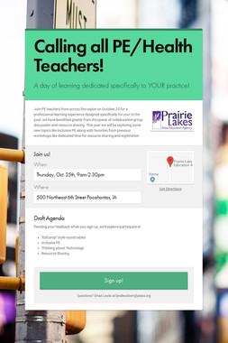 Calling all PE/Health Teachers!