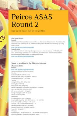 Peirce ASAS Round 2