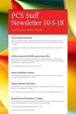 PCS Staff Newsletter 10-5-18