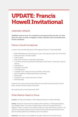UPDATE: Francis Howell Invitational