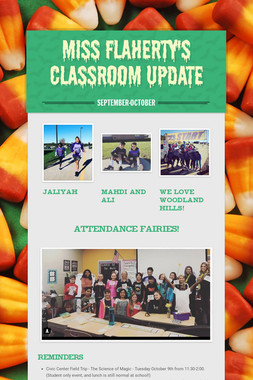 Miss Flaherty's Classroom Update