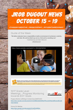 JROB DugOut News  October 15 - 19