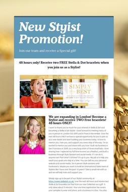 New Styist Promotion!