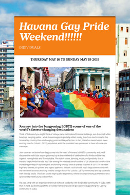 Havana Gay Pride Weekend!!!!!!