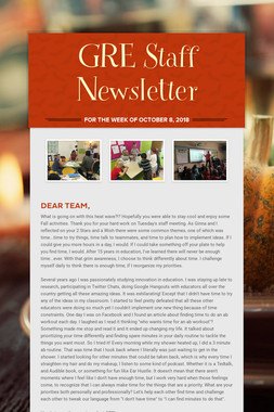 GRE Staff Newsletter