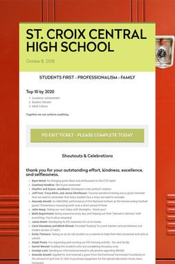 ST. CROIX CENTRAL HIGH SCHOOL