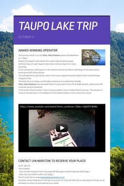 TAUPO LAKE TRIP