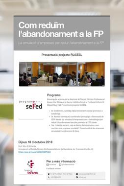 Com reduïm l'abandonament a la FP