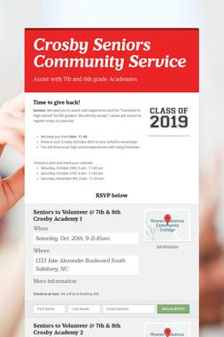 Crosby Seniors Community Service