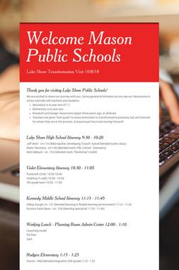 Welcome Mason Public Schools