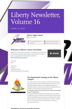 Liberty Newsletter, Volume 16