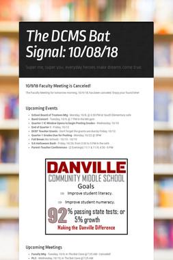 The DCMS Bat Signal: 10/08/18