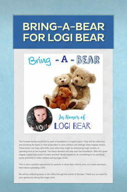 Bring-a-bear for Logi bear