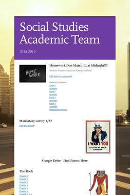 Social Studies Academic Team