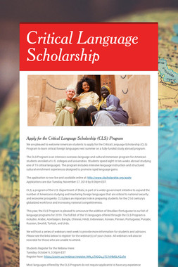 Language Scholarship Opportunity