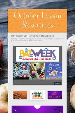 October Lesson Resources
