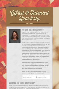 Gifted & Talented Quarterly