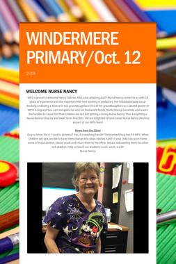WINDERMERE PRIMARY/Oct. 12
