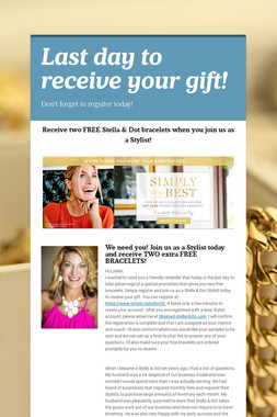 Last day to receive your gift!