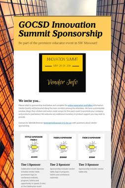 GOCSD Innovation Summit Sponsorship