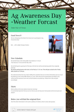 Ag Awareness Day -Weather Forcast