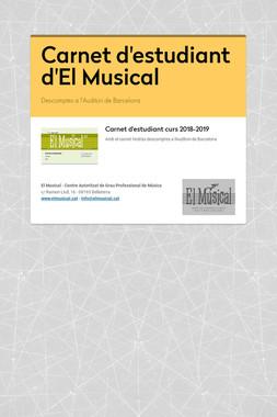 Carnet d'estudiant d'El Musical
