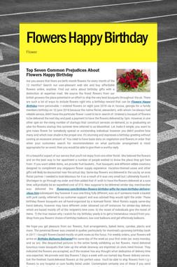 Flowers Happy Birthday