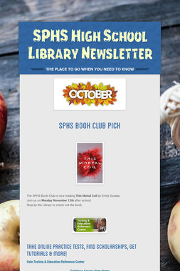 SPHS High School Library Newsletter