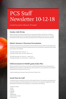 PCS Staff Newsletter 10-12-18