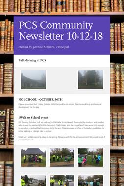 PCS Community Newsletter 10-12-18
