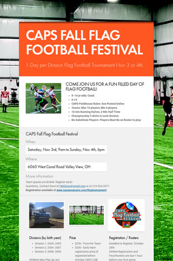 CAPS FALL FLAG FOOTBALL FESTIVAL