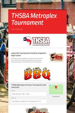 THSBA  Metroplex Tournament
