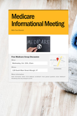 Medicare Informational Meeting