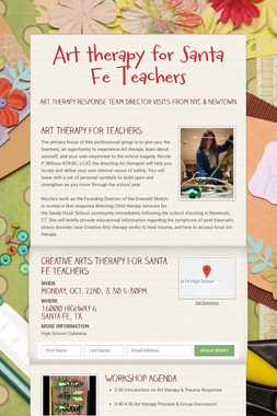 Art therapy for Santa Fe Teachers