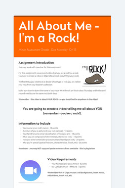 All About Me - I'm a Rock!