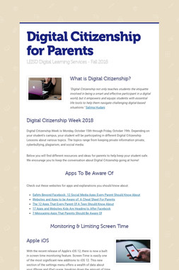 Digital Citizenship for Parents