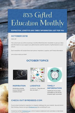 833 Gifted Education Monthly