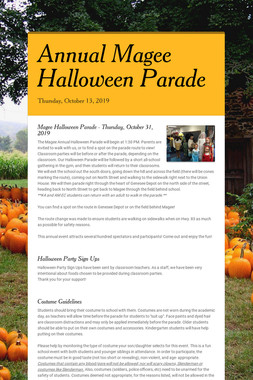 Annual Magee Halloween Parade