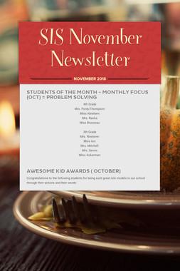 SIS November Newsletter