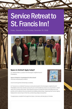 Service Retreat to St. Francis Inn!